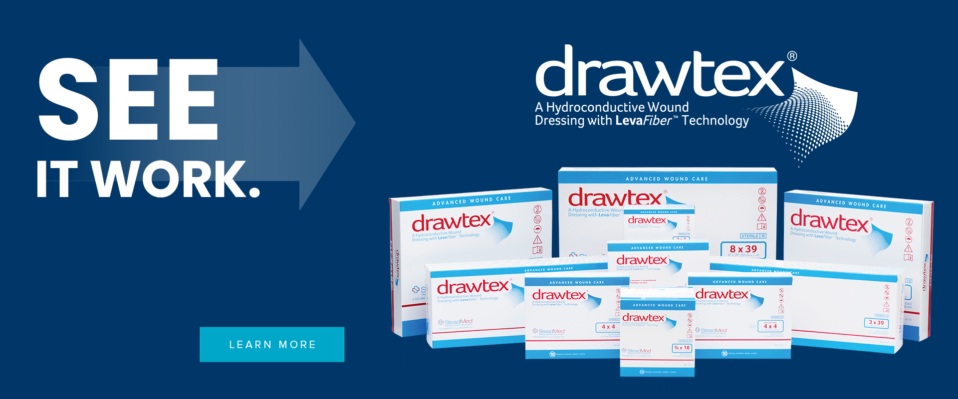 SEE IT WORK. drawtex. A Hydroconductive Wound Dressing with LevaFiber Technology. Learn More.