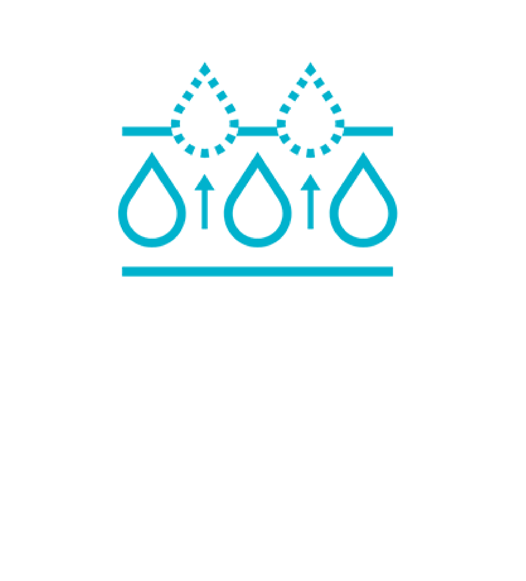 Icon with the text: PASS ON EXCESSIVE FLUID.