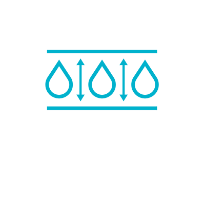 Icon with the text: RETAIN MOISTURE IN THE WOUND.