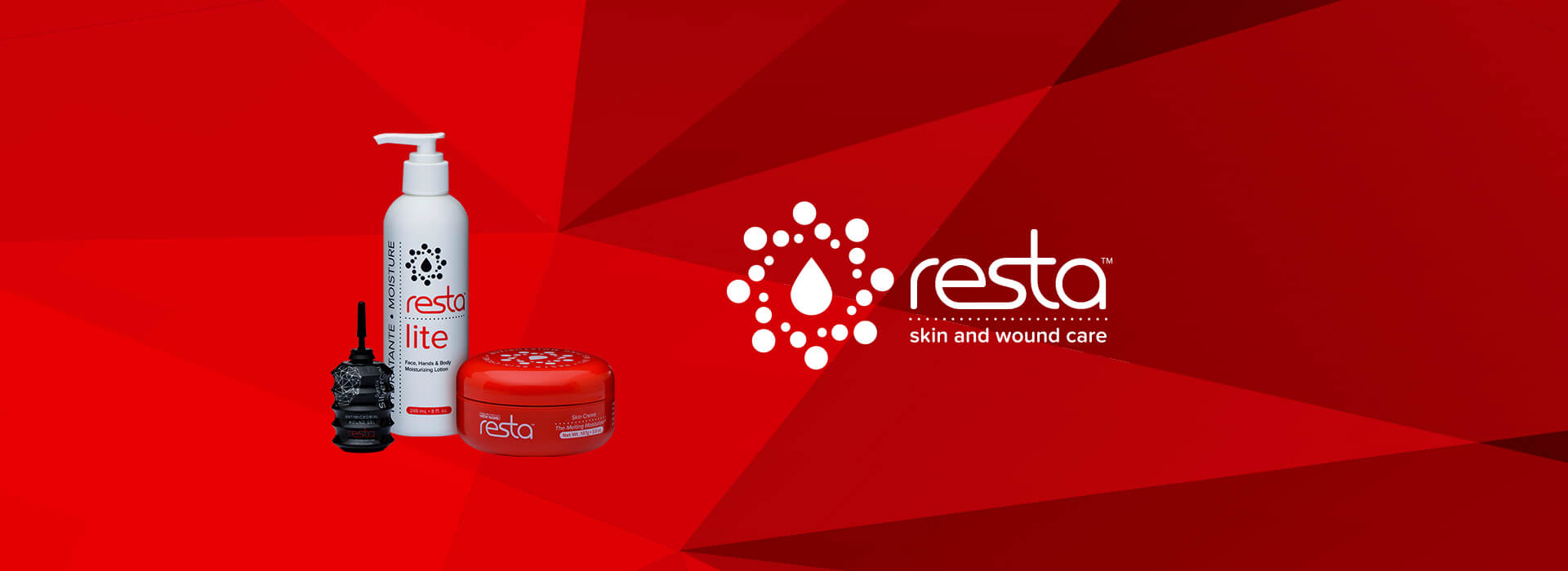 Resta products and logo.